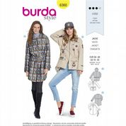 6360 Burda Pattern: Misses' Jacket or Rain Jacket